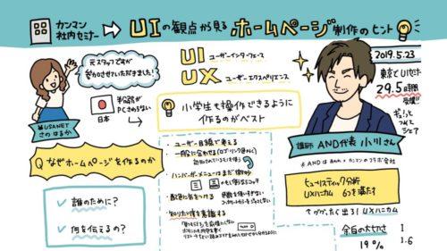 AND小川代表のUIデザインセミナーに参加!ホームページ制作のヒントと小技